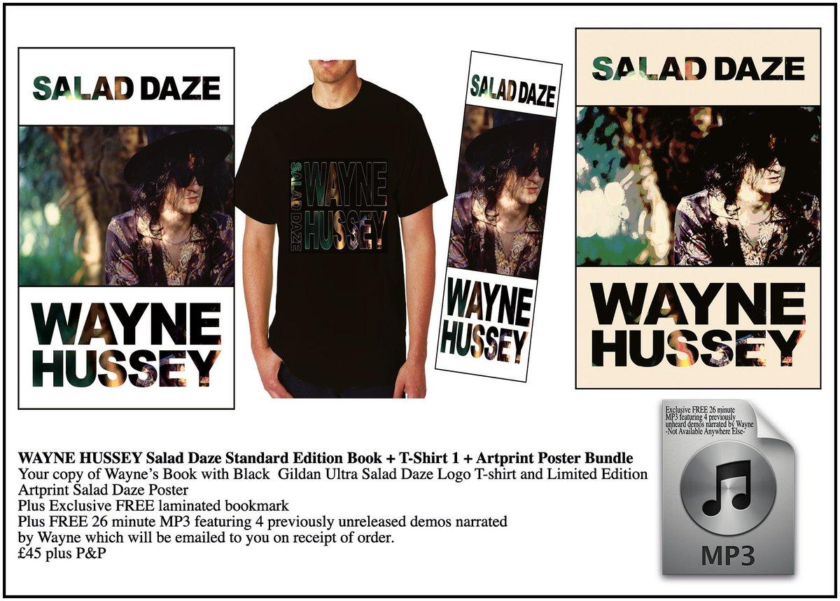Image of WAYNE HUSSEY Standard Edition Book + Logo T-Shirt + Art Print Bundle