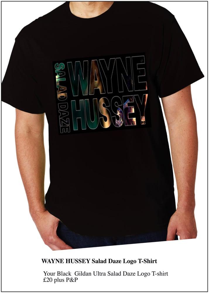 Image of WAYNE HUSSEY Salad Daze Logo T-Shirt