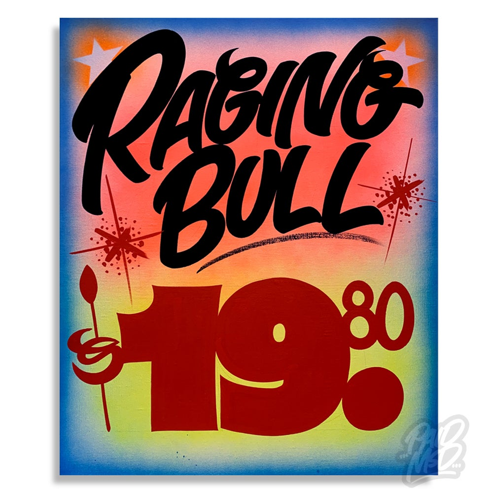 "Image of 22"" x 28"" - Raging Bull"