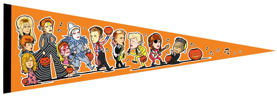 Image of David BOOwie Trick-Or-Treater Pennant