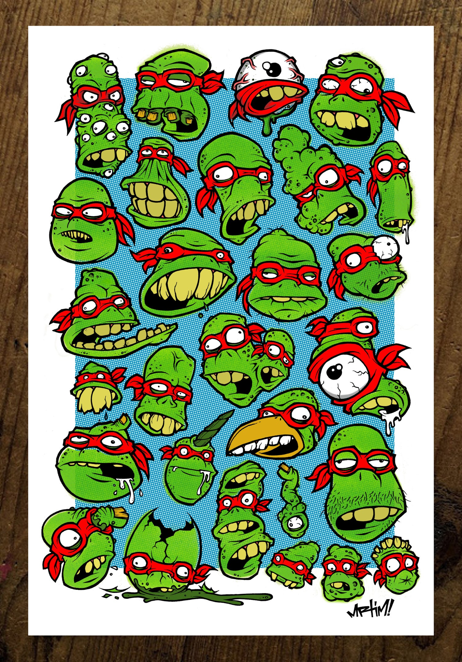 Image of TEENAGE MUTANT MUTANT MUTANTS! Print.
