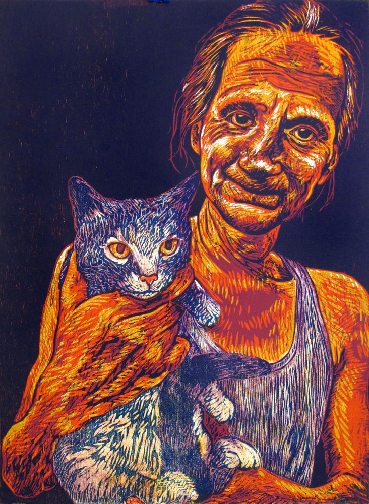 Image of Steve with Cat