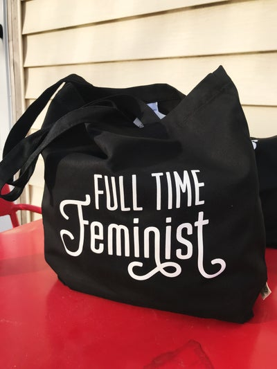 Image of full time feminist tote