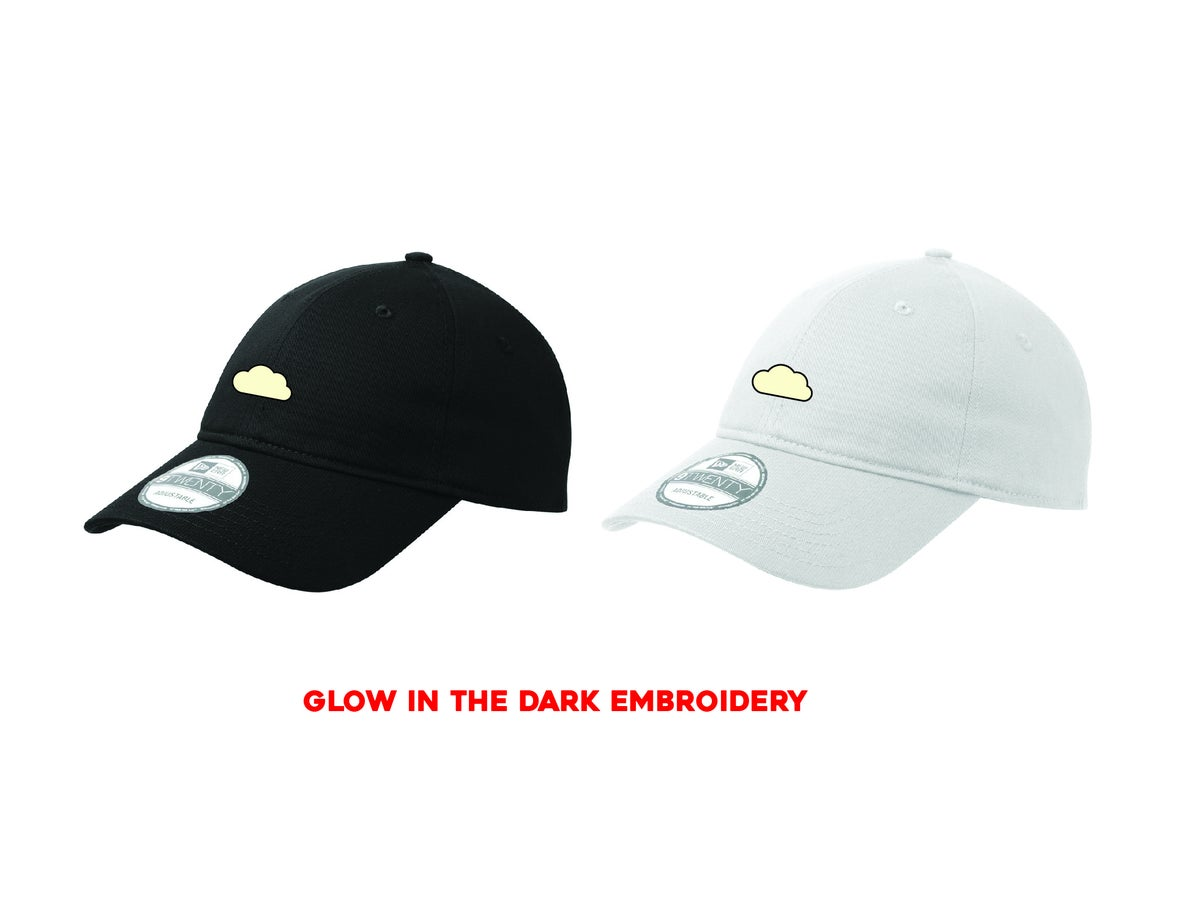 "Image of CLOUD EMBROIDERY ""GLOW"" DAD HAT"