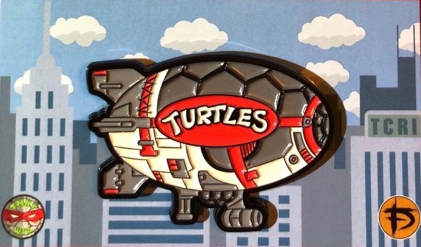 "Image of VARIANT 2"" Turtle Blimp Soft Enamel Pin (GID)"