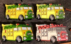 "Image of 2"" Turtle Van Soft Enamel Pin (GID)"