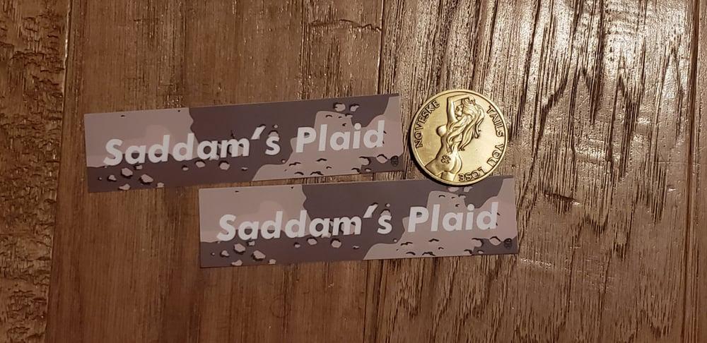 Image of Saddam's Plaid - Choc. Chip x2