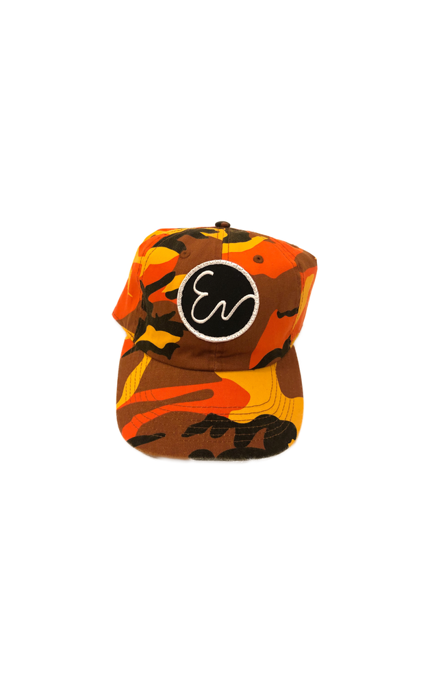 Image of ORANGE CAMO HAT