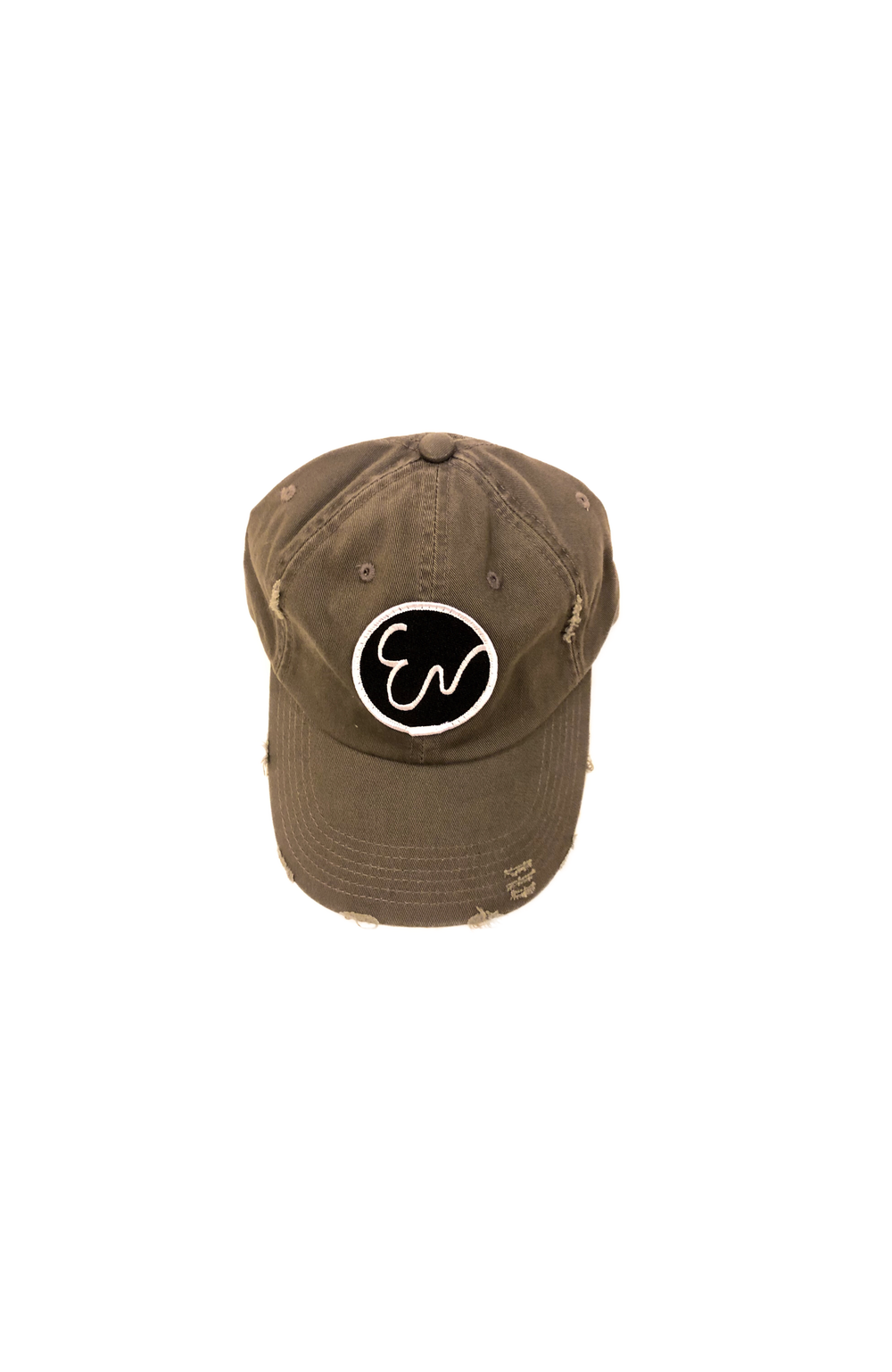 DISTRESSED OLIVE GREEN HAT