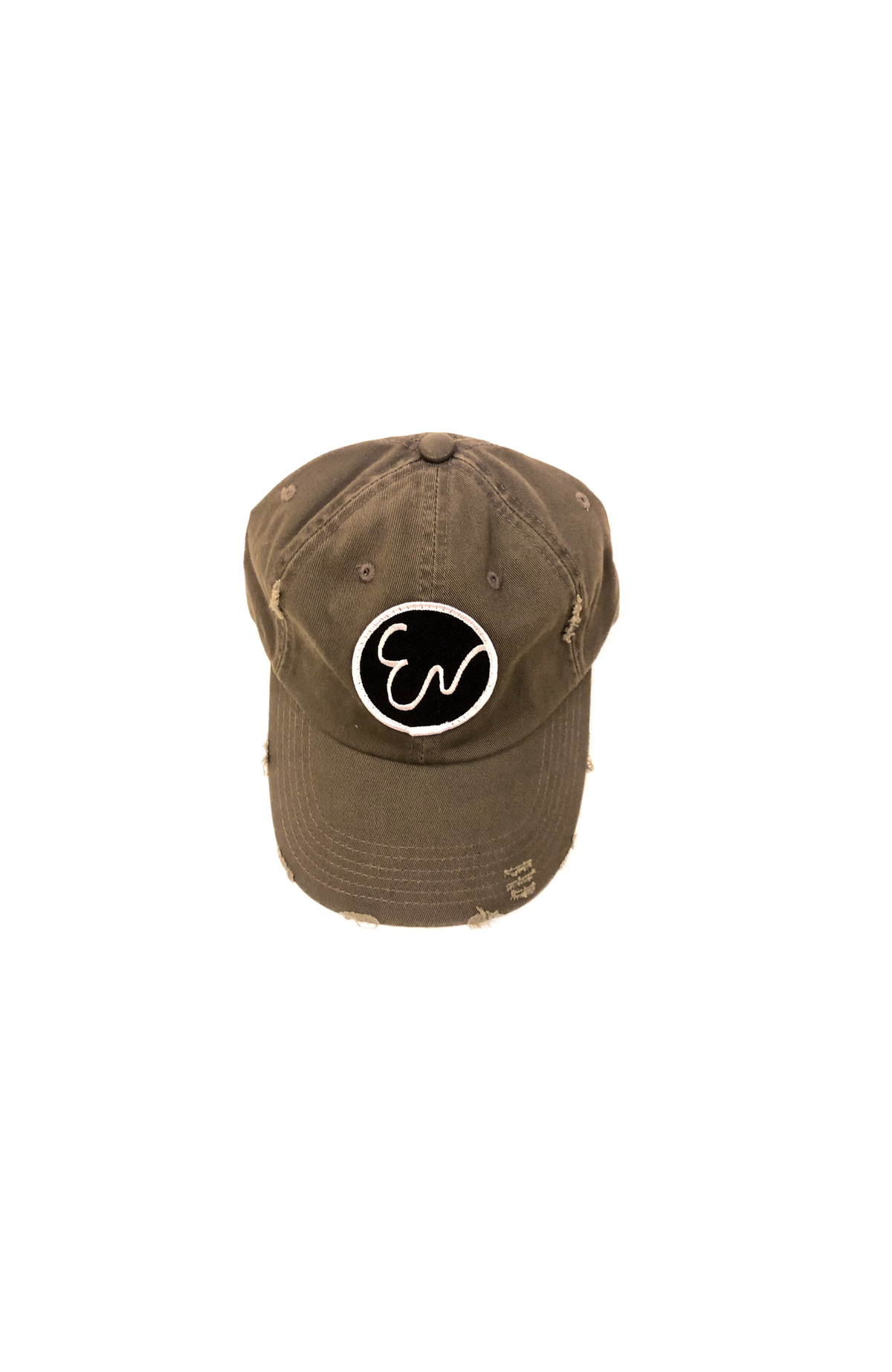 Image of DISTRESSED OLIVE GREEN HAT