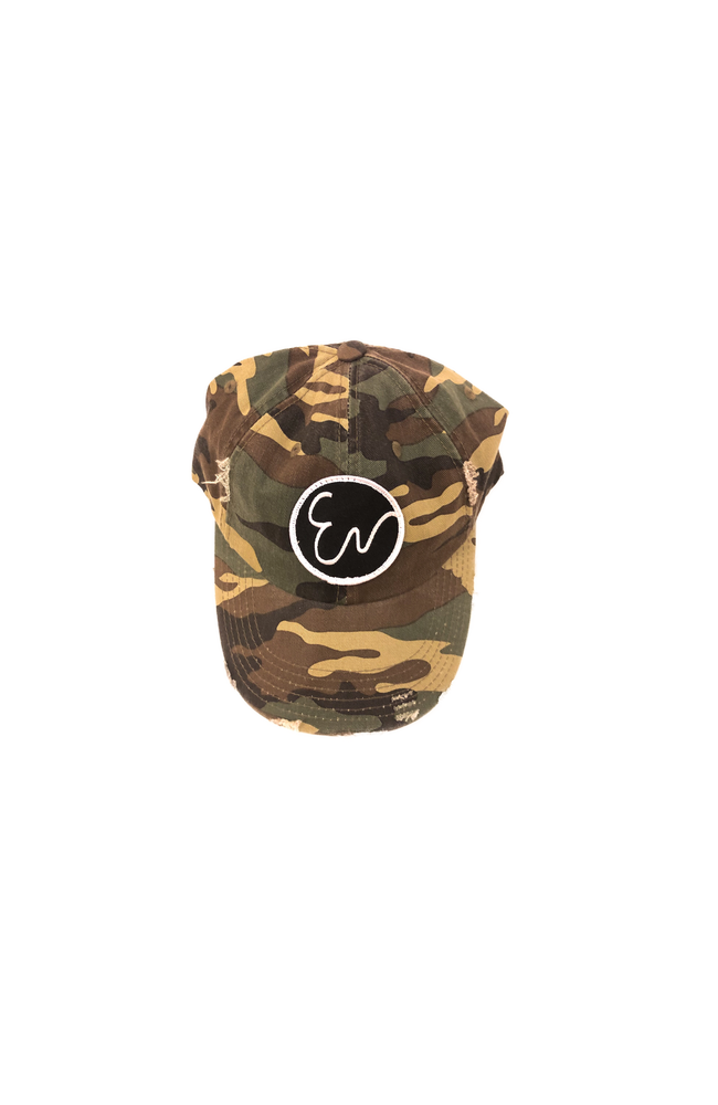 Image of DISTRESSED CAMOUFLAGE HAT