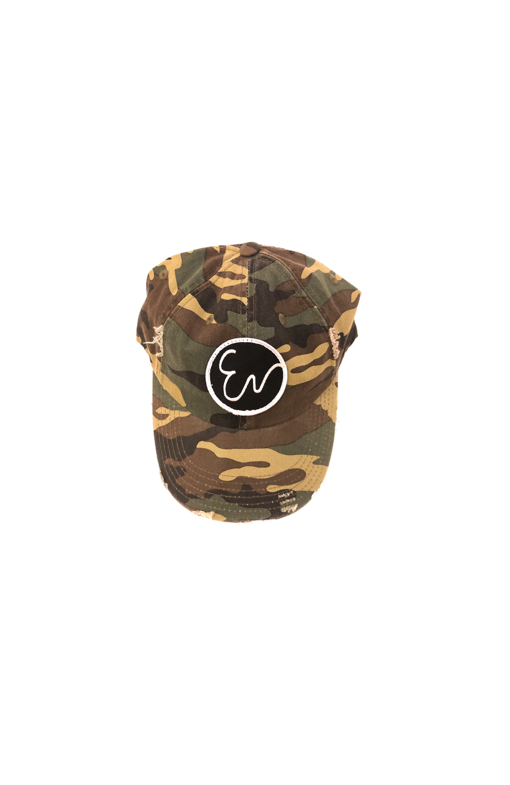 DISTRESSED CAMOUFLAGE HAT