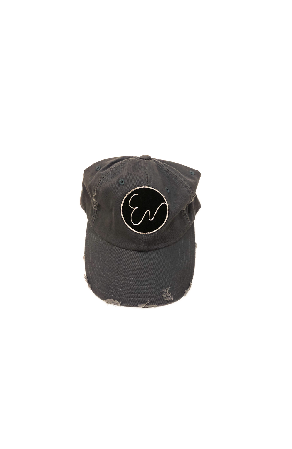 DISTRESSED DUSTY BLUE HAT