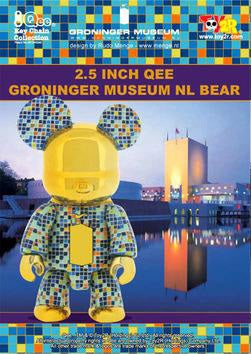 "Image of 2.5"" Groninger Museum Qee Bear - Turquoise blue"