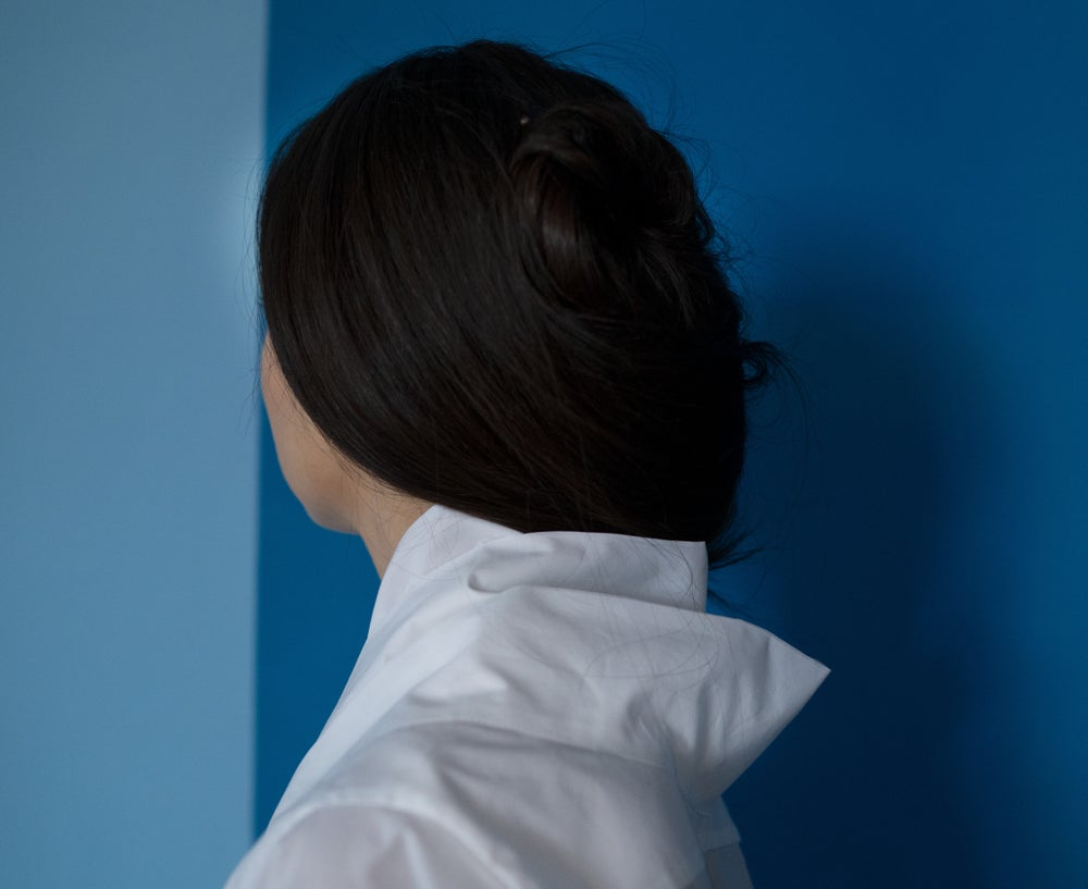 Image of Interlaced collars White shirt