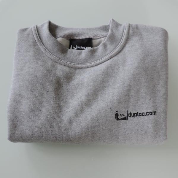 Image of gray duploc.com sweater