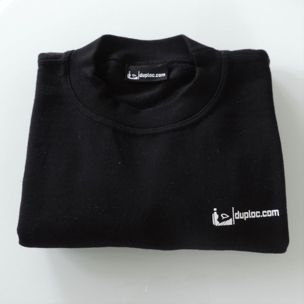 Image of black duploc.com sweater