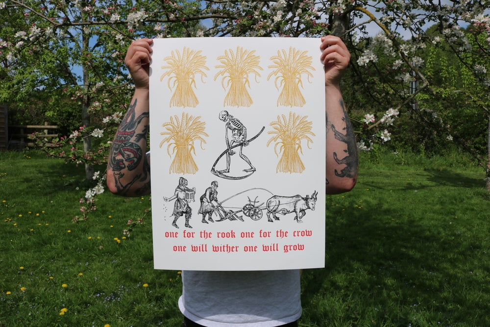 "Image of ""Four little seeds"" limited edition screen print"