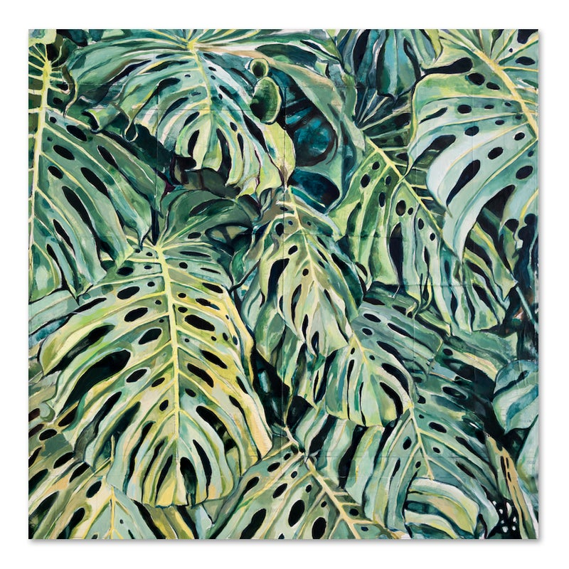"""Image of Original painting - """"Monstera deliciosa"""" - 100X100 cm"""