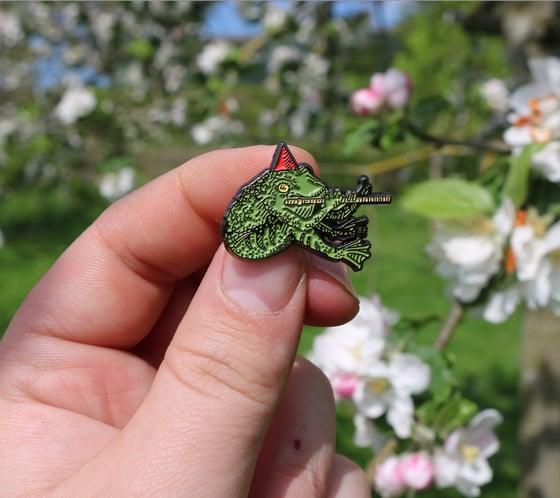 Image of froggy boy pin badge