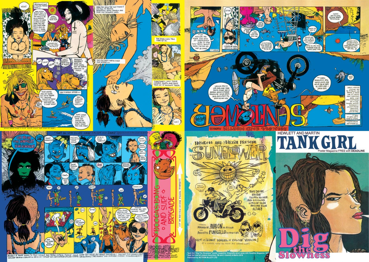 "Image of HAND SIGNED - ""Dig The Slowness"" The Original 1991 Tank Girl Poster Magazine Remastered"