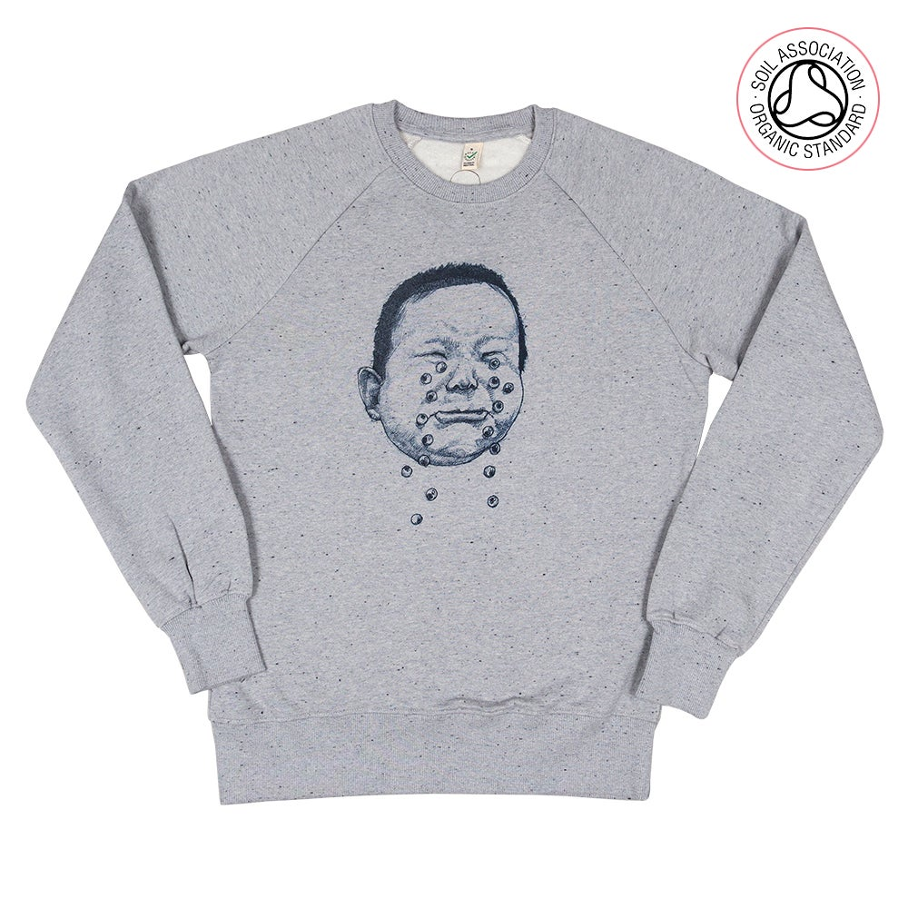 Cry hard Grey Twist Sweatshirt