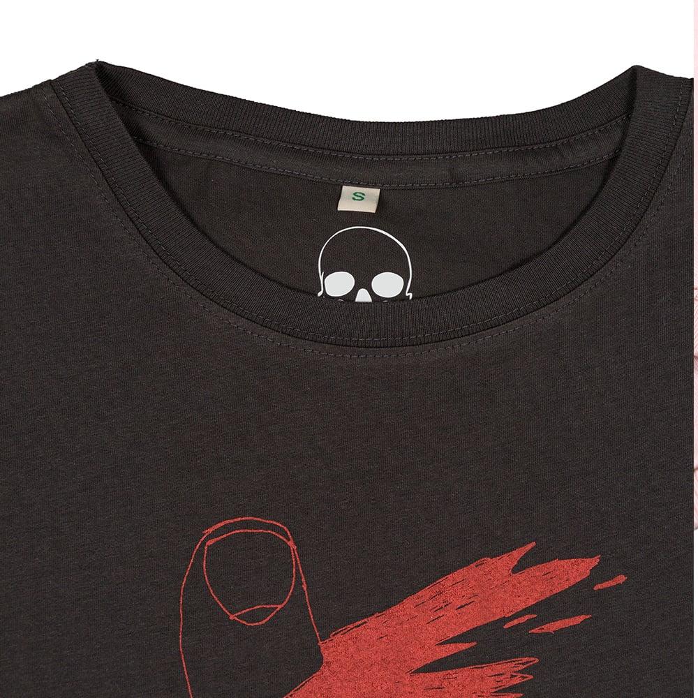 Image of Paper Cut Unisex Charcoal T-Shirt (Organic)