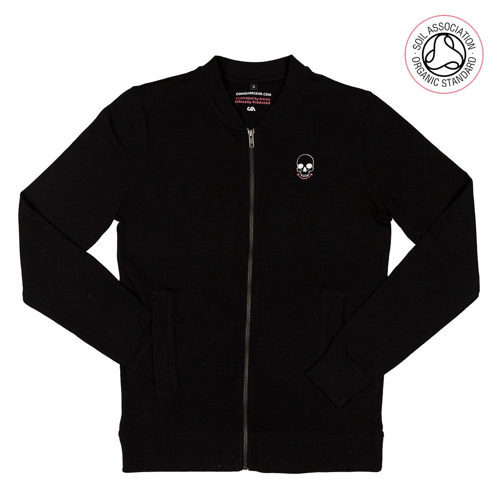 Image of Mr Death Black Summer Bomber Jacket (Organic)