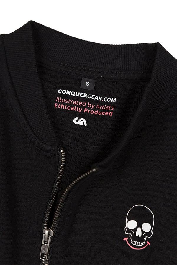 Mr Death Black Summer Bomber Jacket (Organic)