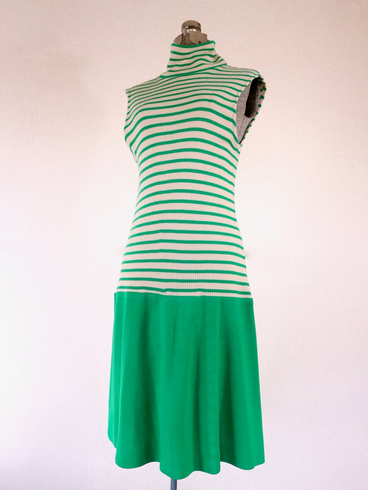 Image of Green Striped Tennis Dress — M