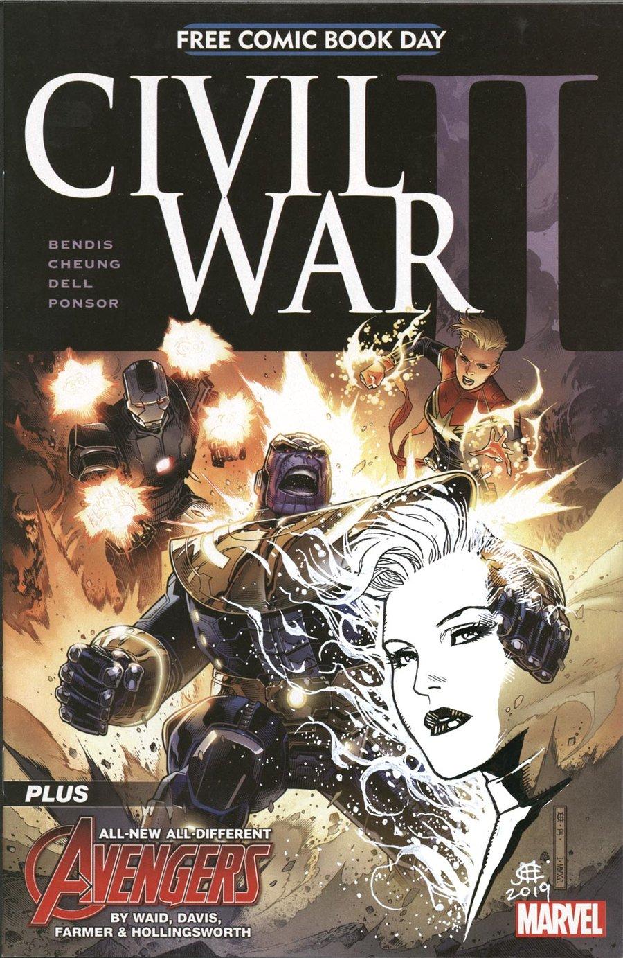 Image of CIVIL WAR II - FCBD - Captain Marvel Remarque