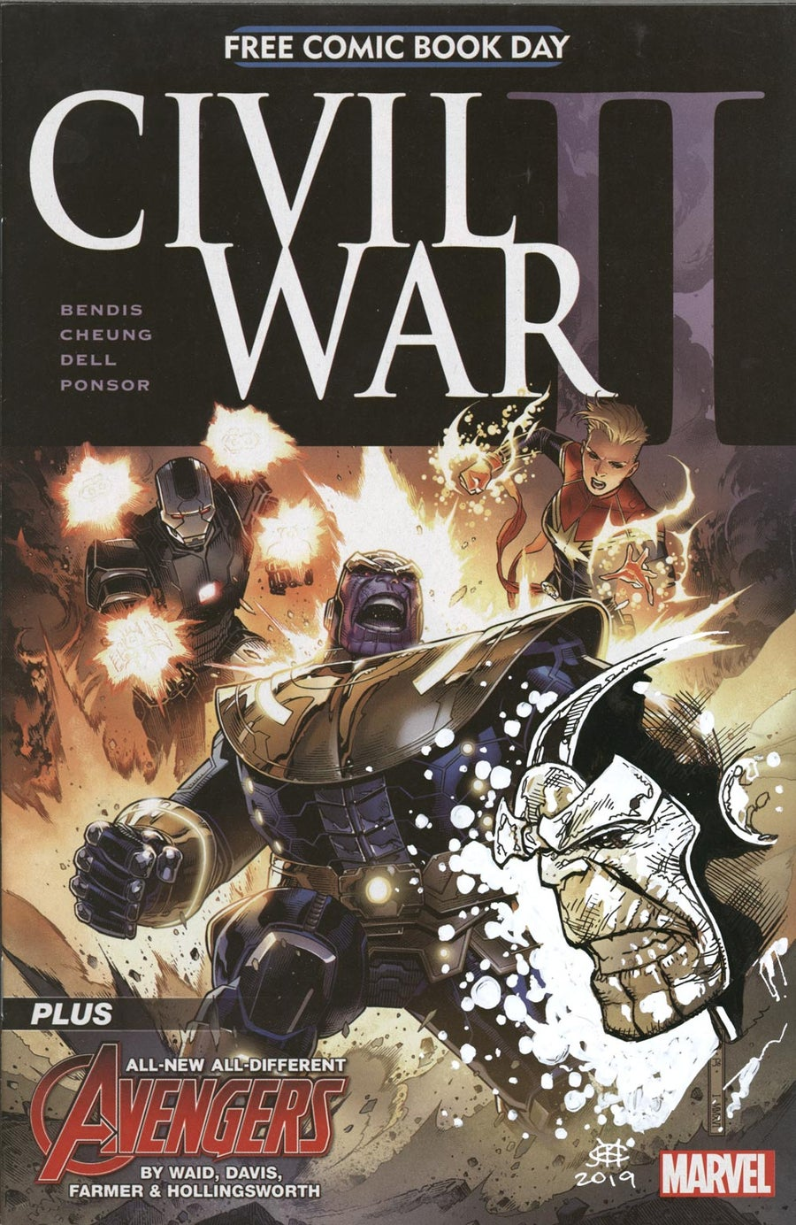 Image of CIVIL WAR II_FCBD - THANOS Remarque