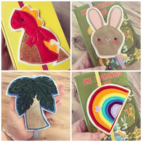 Image of More Elasticated Felt Bookmarks