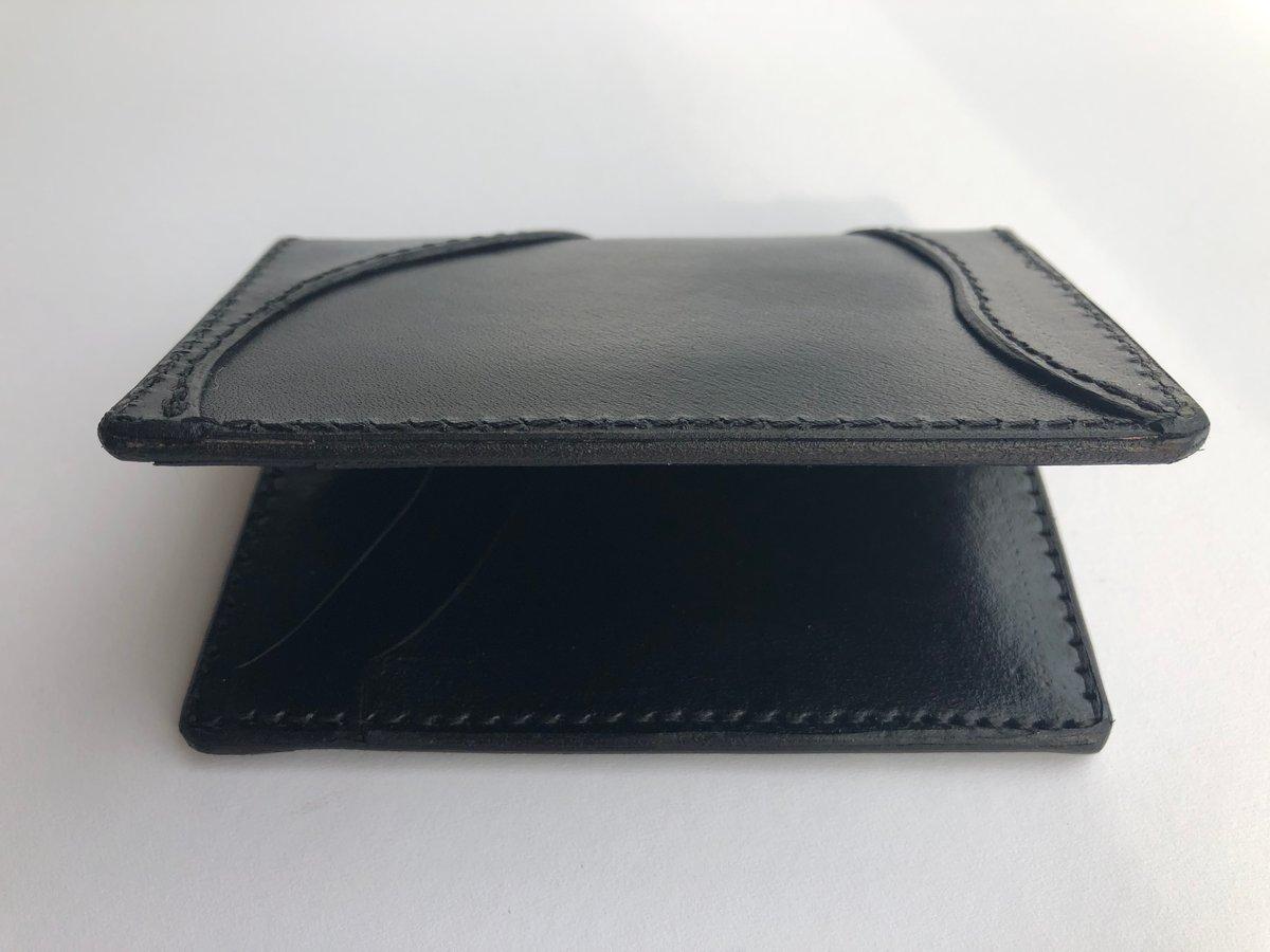 Image of Black vertical folding wallet #66