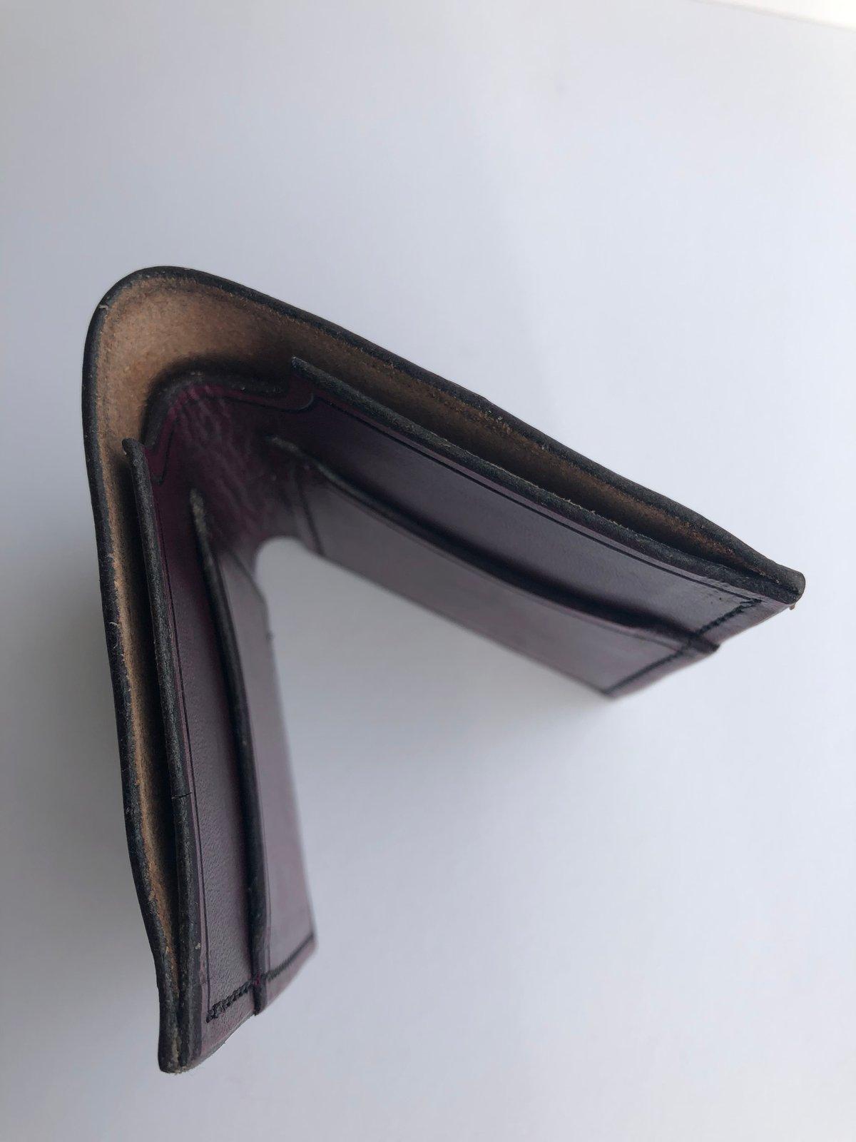 Image of 2 card slot folding wallet