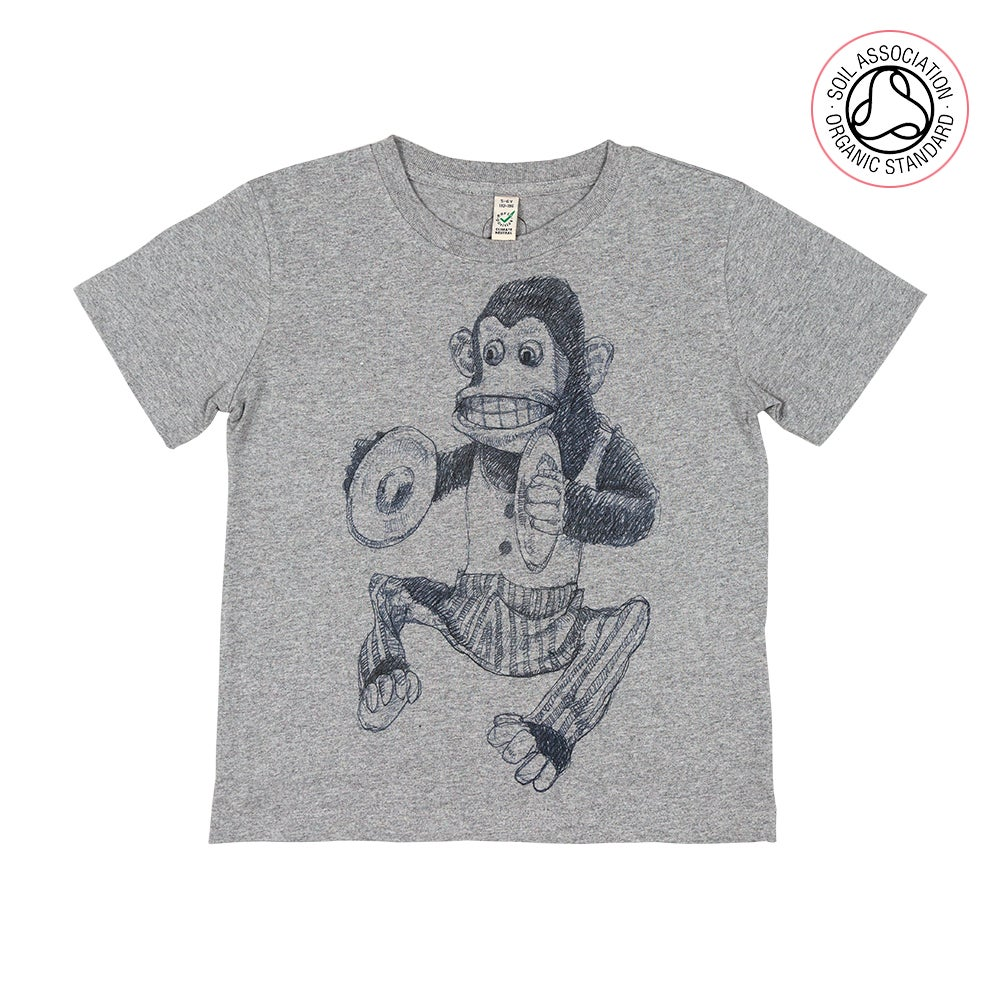 Monkey Grey Kids-T (Organic)
