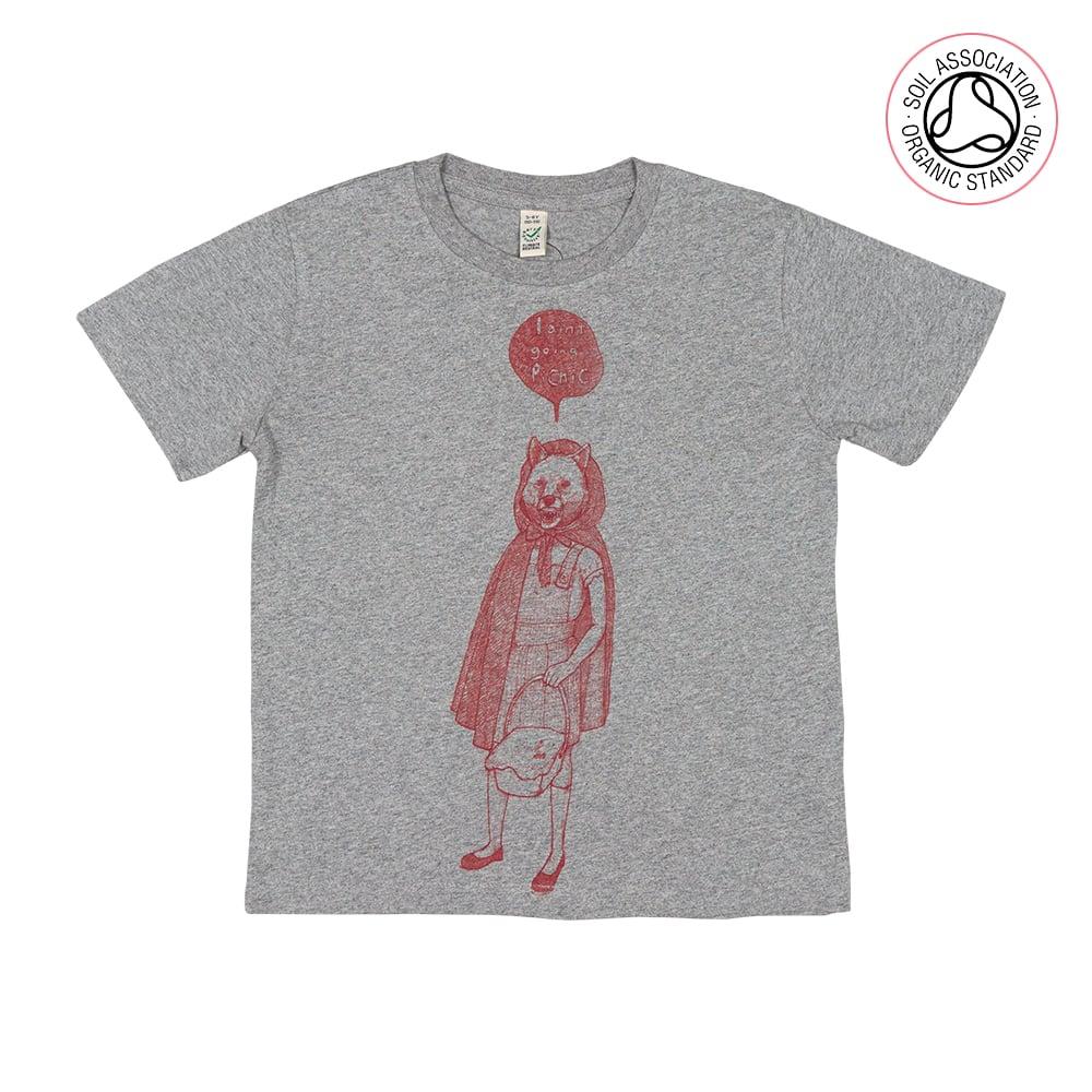RedHood Grey Kids-T (Organic)