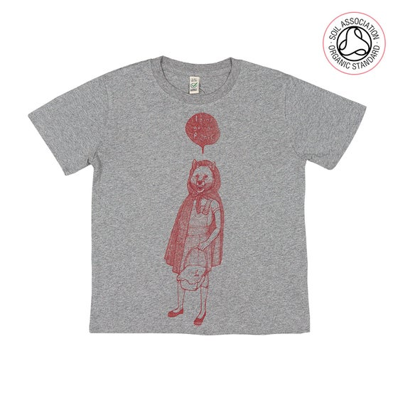 Image of RedHood Grey Kids-T (Organic)