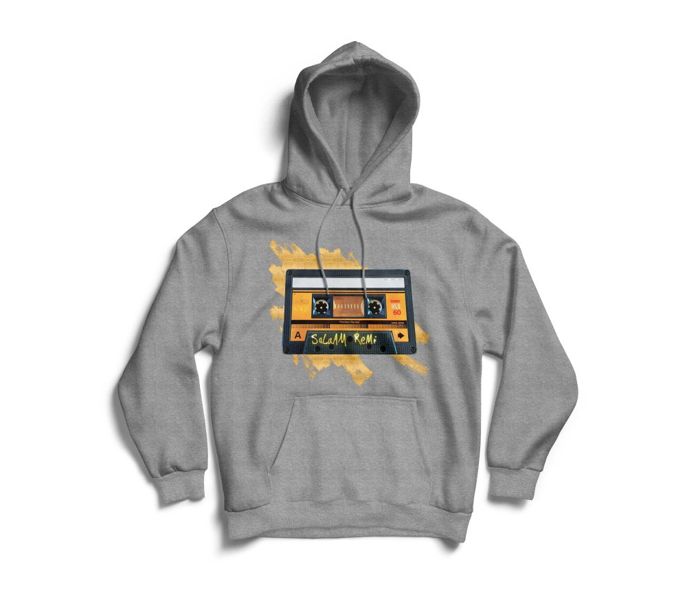 "Image of Peronalized Grey ""BeAt TaPe"" Hoodie"