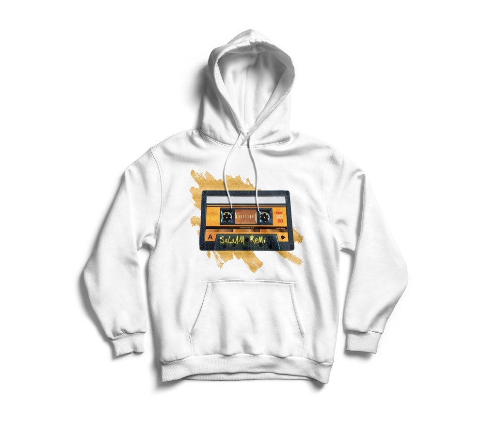 "Image of Personalized White ""BeAt TaPe"" Hoodie"