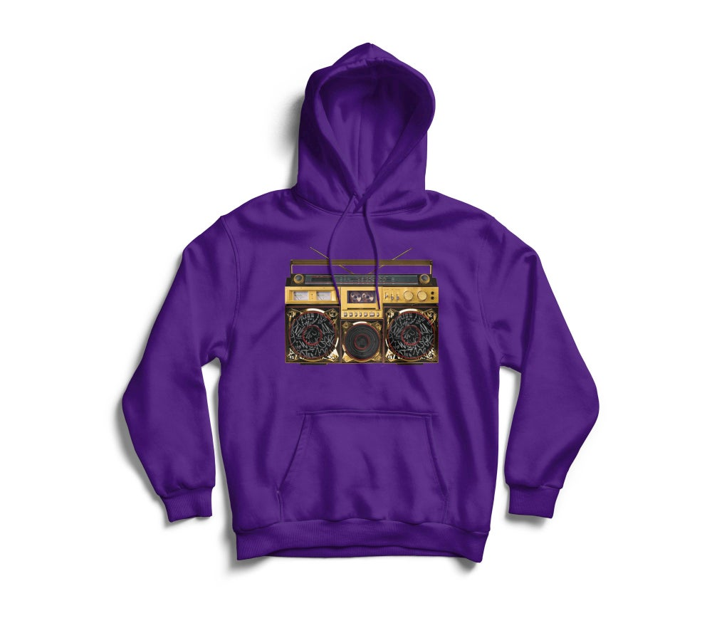 "Image of Purple ""BoxTaLk"" Hoodie"