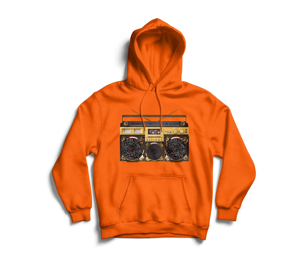 "Image of Orange ""BoxTaLk"" Hoodie"