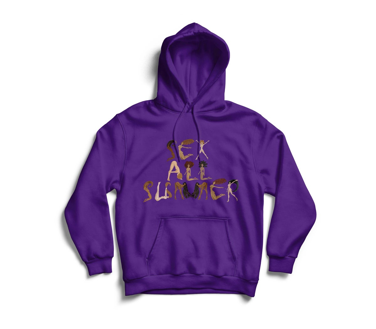 """Image of Purple """"SeX All SumMeR"""" Hoodie"""