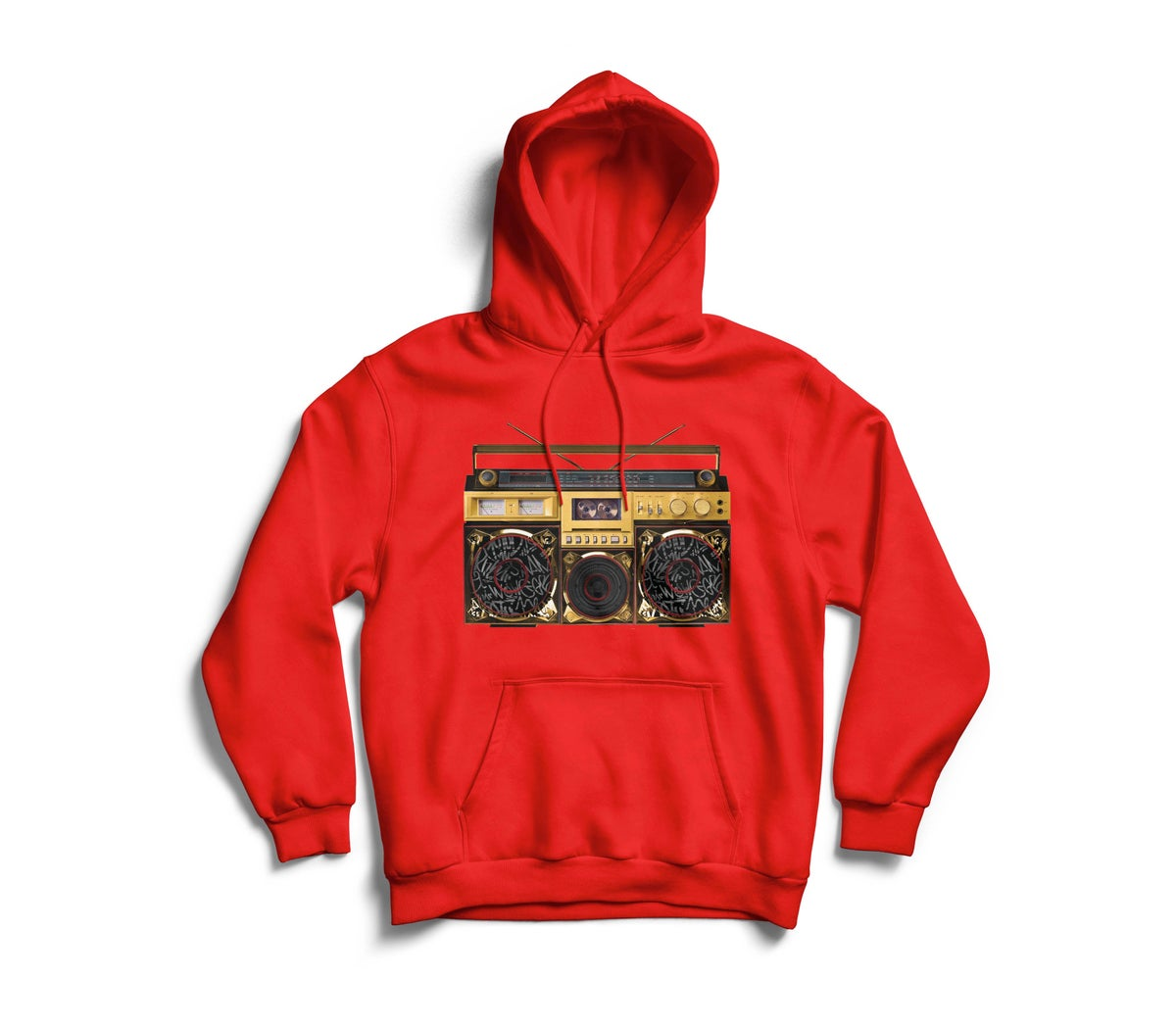 "Image of Red ""BoxTaLk"" Hoodie"