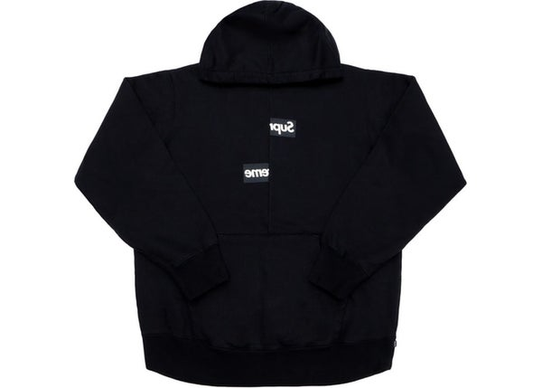 Image of Supreme Comme des Garcons SHIRT Split Box Logo Hooded Sweatshirt Black