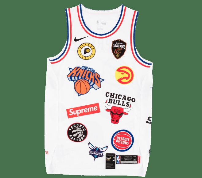 8e323e4d Supreme Nike/NBA Teams Authentic Jersey White | BDOTSTOCK.COM