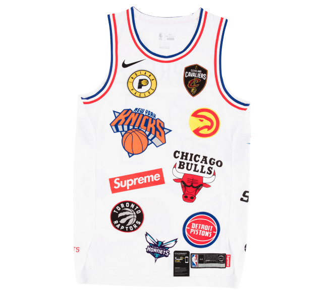 Image of Supreme Nike/NBA Teams Authentic Jersey White
