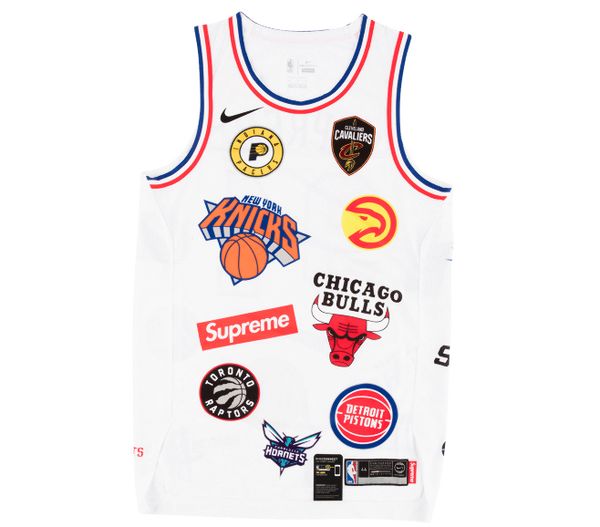 Image of Supreme Nike/NBA Teams Authentic Jersey White Sz 52