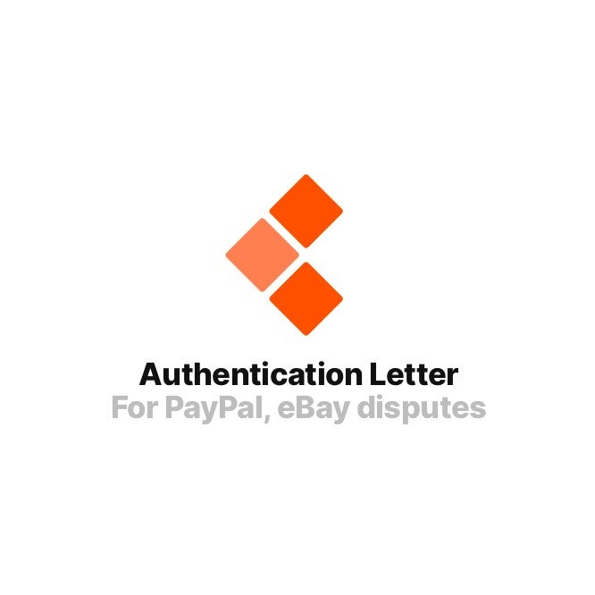 Image of Authentication Letter