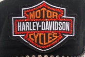 Image of Harley Davidson Crystal Patch can be put on  ANY Hat Style